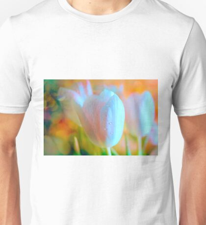 Glowing tulips Unisex T-Shirt