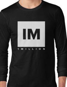 1 MILLION Dance Studio Logo (White Version) Long Sleeve T-Shirt