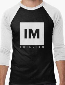 1 MILLION Dance Studio Logo (White Version) Men's Baseball ¾ T-Shirt