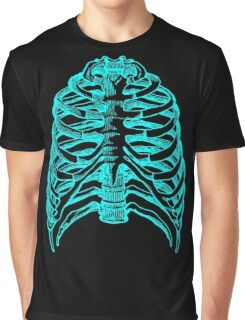 Skeleton rib cage - blue Graphic T-Shirt