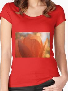 Tulip macro close up Women's Fitted Scoop T-Shirt