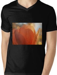 Tulip macro close up Mens V-Neck T-Shirt