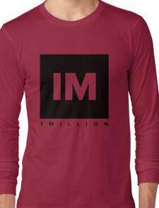 1 MILLION Dance Studio Logo (Black Version) Long Sleeve T-Shirt