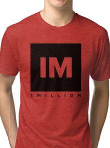1 MILLION Dance Studio Logo (Black Version) Tri-blend T-Shirt
