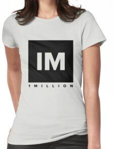 1 MILLION Dance Studio Logo (Black Version) Womens Fitted T-Shirt