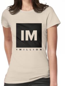 1 MILLION Dance Studio Logo (Black Version) Womens Fitted T-Shirt