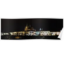 Prague Castle at Night Poster