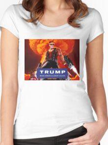 Duke Nukem Trump Women's Fitted Scoop T-Shirt