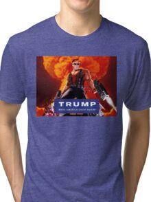 Duke Nukem Trump Tri-blend T-Shirt