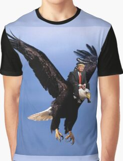 Trump Riding Eagle Graphic T-Shirt