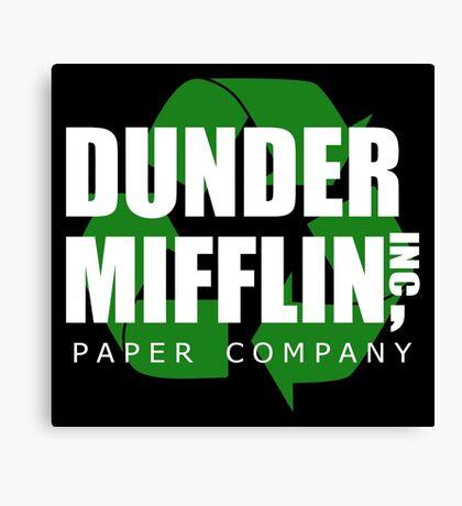 Dunder Mifflin Recycle Canvas Print