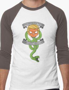 Voldemort Trump Death Eater Dark Mark Harry Potter Books Politics President Election Print Men's Baseball ¾ T-Shirt
