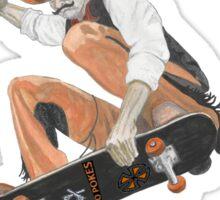 Pistol Pete Riding a Skateboard Sticker