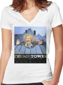 The Death of Hillary Women's Fitted V-Neck T-Shirt