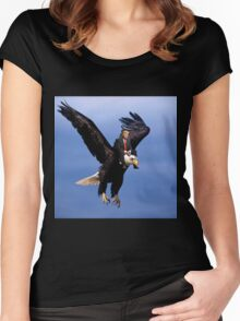 Trump Riding Eagle Women's Fitted Scoop T-Shirt