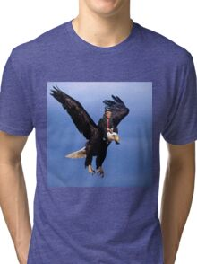 Trump Riding Eagle Tri-blend T-Shirt