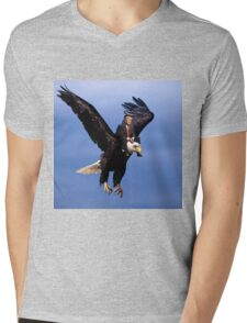 Trump Riding Eagle Mens V-Neck T-Shirt