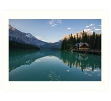 Emerald Lake Lodge Art Print
