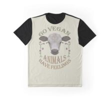 GO VEGAN - ANIMALS HAVE FEELINGS Graphic T-Shirt