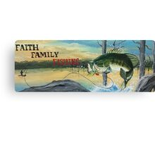 Faith Family Fishing Canvas Print