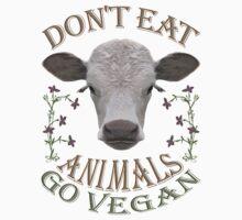 DON'T EAT ANIMALS - GO VEGAN Kids Clothes