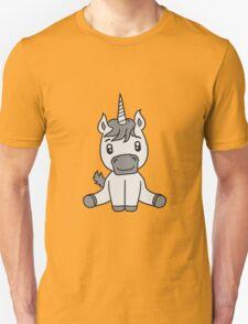 unicorn foal unicorn sweet cute sitting comic cartoon pony horse pferdchen kawaii child girl baby Unisex T-Shirt