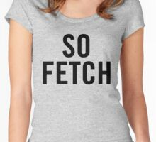 So Fetch (Black) Women's Fitted Scoop T-Shirt