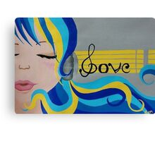 Music is Love Canvas Print