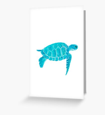 Turtle painting Greeting Card