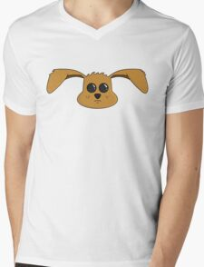 Cute Puppy Mens V-Neck T-Shirt
