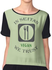 IN SEITAN WE TRUST Chiffon Top