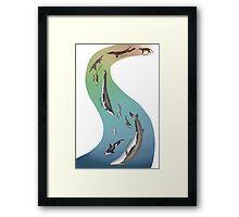 Whale evolution - prehistoric and modern whales Framed Print