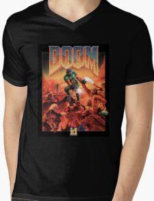 DOOM Original Cover Mens V-Neck T-Shirt