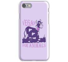 VEGAN FOR ANIMALS iPhone Case/Skin