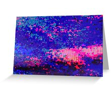 glitchy - clouds Greeting Card