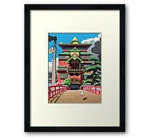 Spirited Away 8bit Framed Print