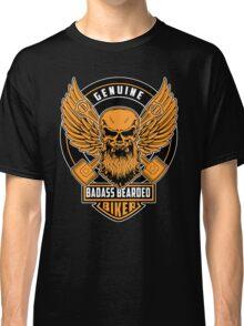 Genuine Badass Bearded Biker Classic T-Shirt