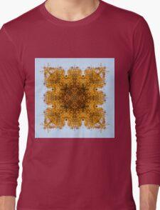 Autumn foliage mandala Long Sleeve T-Shirt