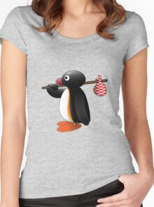 Pingu the Penguin Women's Fitted Scoop T-Shirt