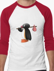 Pingu the Penguin Men's Baseball ¾ T-Shirt