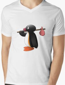 Pingu the Penguin Mens V-Neck T-Shirt
