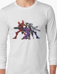 Evangelion: 8bit Genesis  Long Sleeve T-Shirt