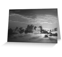 Monochrome Sunrise Greeting Card