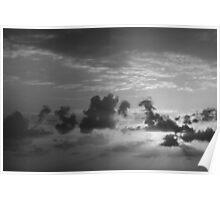 Monochrome Sunrise Poster