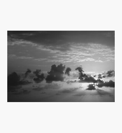 Monochrome Sunrise Photographic Print
