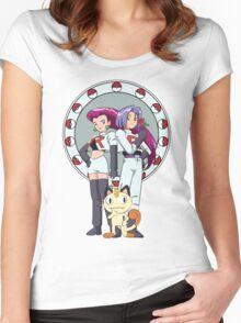Team Rocket Nouveau Women's Fitted Scoop T-Shirt