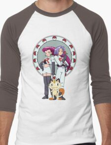 Team Rocket Nouveau Men's Baseball ¾ T-Shirt