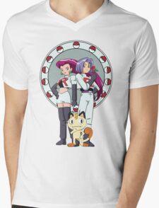 Team Rocket Nouveau Mens V-Neck T-Shirt