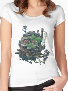 8bit Howl's Moving Castle Women's Fitted Scoop T-Shirt