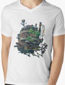 8bit Howl's Moving Castle Mens V-Neck T-Shirt
